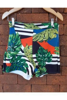 short-curto-estampado-neoprene-lau