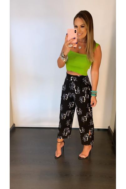 Cropped Tricot Basic Verde