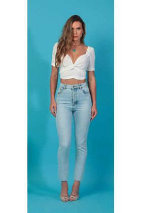 Cropped Cruzado Off White Lais
