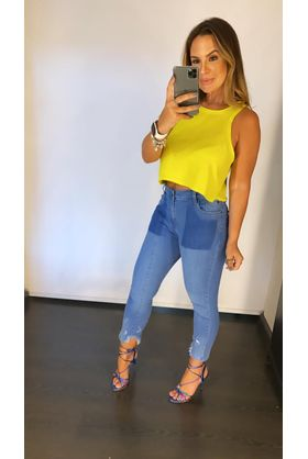Cropped Basic A Fio Verde