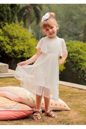 Vestido Infantil Off White Izabel