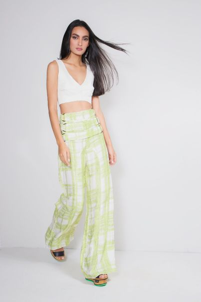 Cropped Colchetes Off White