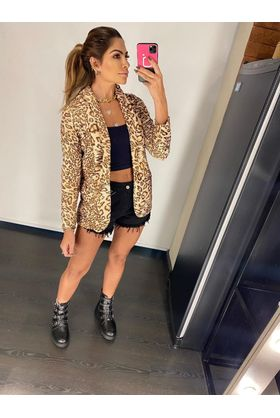 Blazer-Lurex-Animal-Print