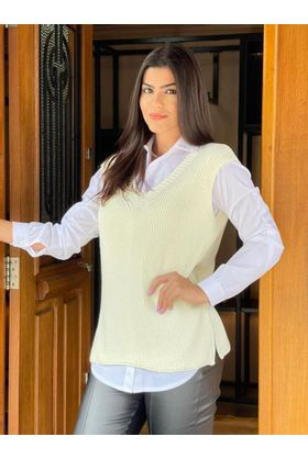 Maxi-Colete-Tricot-Off-White-Isis