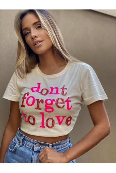 T-shirt-Off-White-Bordada-Dont-Forget